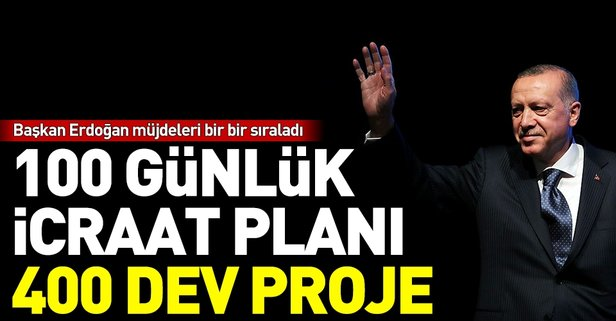 Başkan Erdoğan 400 dev projeyi bir bir sıraladı
