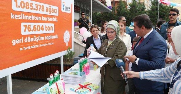 Emine Erdoğan öğrencileri sevindirdi