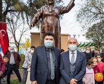 CHP'nin heykel hizmetlerine bir yenisi daha eklendi!