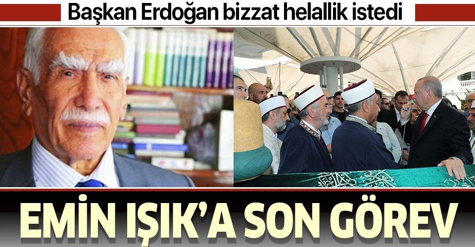 Başkan Erdoğan'dan Prof. Dr. Emin Işık hocaya son görev