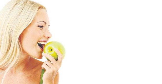 Gençlik meyvesi yeşil elma