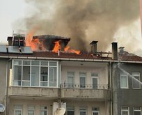 4 katlı apartmanda korkutan yangın!