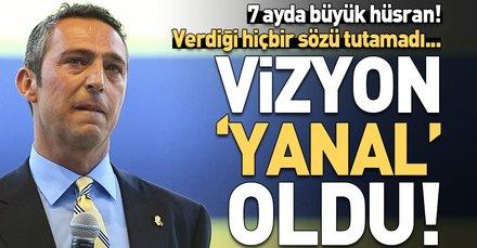 Vizyon 'Yanal' oldu! Başkan Ali Koç verdiği hiçbir sözü tutamadı...
