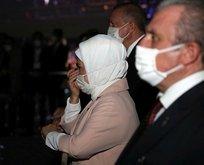 Emine Erdoğan o görüntüleri görünce ağladı