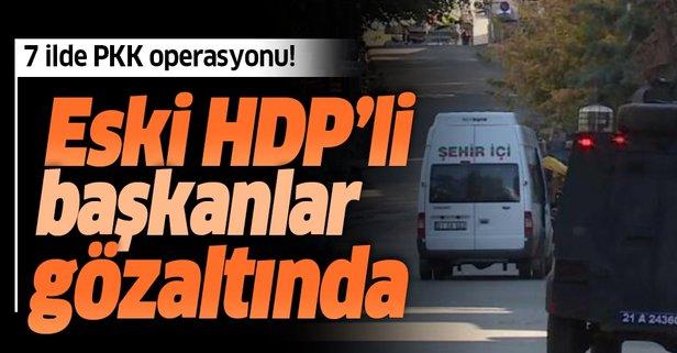 Eski HDP'li başkanlar gözaltında
