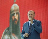 Erdoğan'dan Malazgirt'te net mesaj