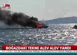 Son dakika: Üsküdar'da tekne yangını!
