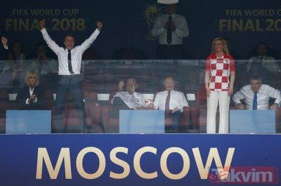 Dünya Kupası finalinde Macron'dan sıcak temas