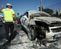 Merter'de yangın! Trafik kilitlendi...