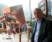 Başkan Erdoğan'ın down sendromlu gençle kalpleri ısıtan diyaloğu