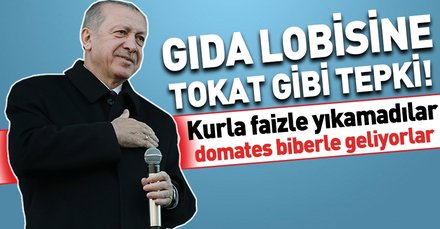 Başkan Erdoğan: Kurla faizle yıkamadılar domatesle biberle geliyorlar