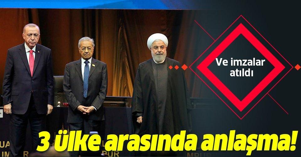 Son dakika: Türkiye-İran-Malezya arasında anlaşma! Başkan Erdoğan imza törenine katıldı