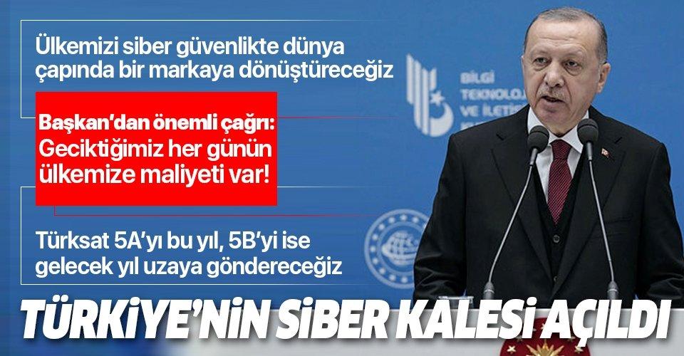 Son dakika: Başkan Erdoğan'dan USOM açılışında önemli açıklamalar
