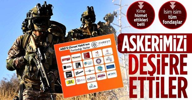ABD'li Chrest Foundation Türk askerlerinin yer bilgisini almış! İşte Türkiye'de fonlanan kuruluşlar - Takvim