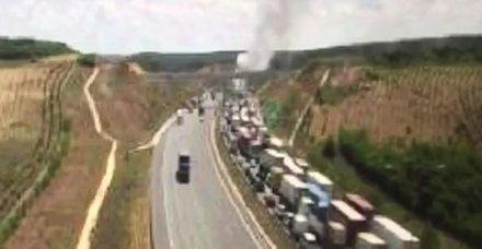 Son dakika haberi: Yavuz Sultan Selim Köprüsü'nde araç yangını