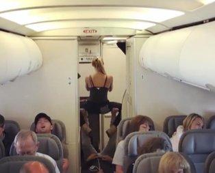 Uçakta ilginç anlar!