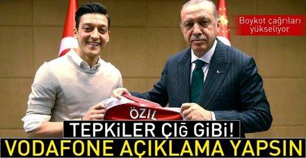 Mesut Özil'i reklamdan çıkaran Vodafone Almanya'ya tepkiler çığ gibi!