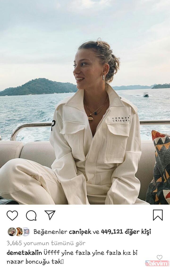 Serenay Sarıkaya'nın tatil paylaşımı Demet Akalın'ı büyüledi: Nazar boncuğu tak!