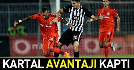 Kartal avantajı kaptı! (MS: Partizan 1-1 Beşiktaş)