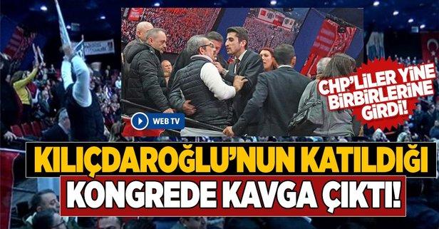 CHP İstanbul Kongresinde kavga çıktı!