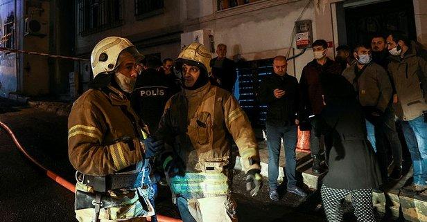 İstanbul'da yangın paniği! Komşular son anda kurtardı
