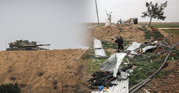 İsrail'denİzzeddin el-Kassam Tugaylarına saldırı