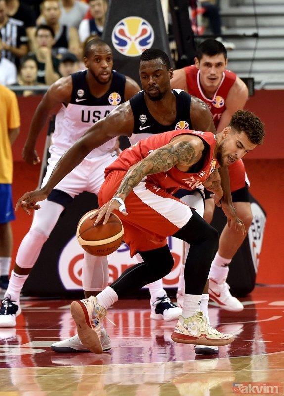 Nefes kesen maç! A Milli Basketbol Takımımız ABD'yi elinden kaçırdı (MS: ABD 93 - 92 Türkiye)