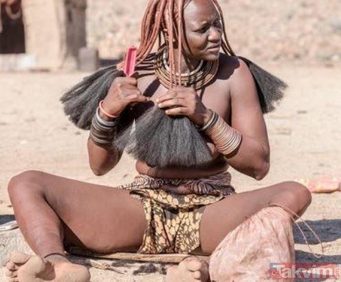 Dünyanın en ilginç kabilesi! Himba kabilesinin kadınları hamile kalmak için...
