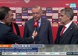 Başkan Erdoğan Türkiye-Moldova karşılaşmasını değerlendirdi! Allah nazarlardan saklasın...