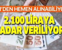 375, 625, 750, 1.100 ve 1.300 lira yatırılıyor