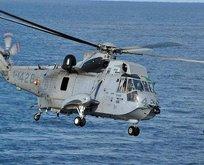NATO helikopteri denizde kayboldu