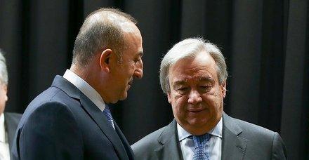 Son dakika: Dışişleri Bakanı Çavuşoğlu, BM Genel Sekreteri Guterres ile görüştü