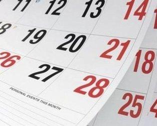 Milyonlar dikkat! 2020 resmi tatil günleri ne zaman?