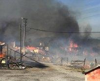 Bolu'da korkutan yangın: 12 ev küle döndü!