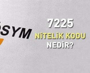 KPSS 7225 nitelik kodu nedir?
