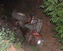 Traktör şarampole devrildi: Baba ve kızı öldü
