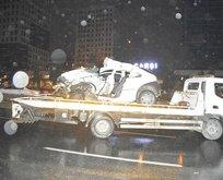 İstanbul'da gece yarısı korkunç kaza