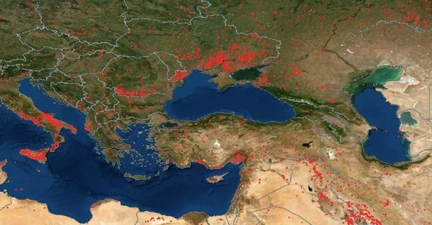 Türkiye orman yangın haritası! Türkiye orman yangınları hangi illerde? Yangın olan iller!