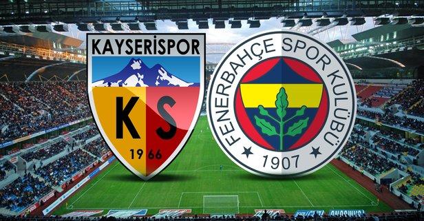 Fenerbahçe-Kayserispor maçı hangi kanalda?
