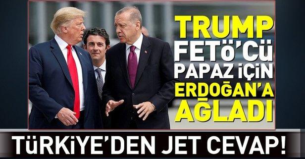 Türkiyeden Trumpa Brunson cevabı