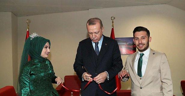 Başkan Erdoğan nişan yüzüklerini taktı