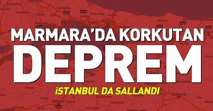 Son depremler: İstanbul'da korkutan deprem! Marmara Denizi'nde deprem oldu