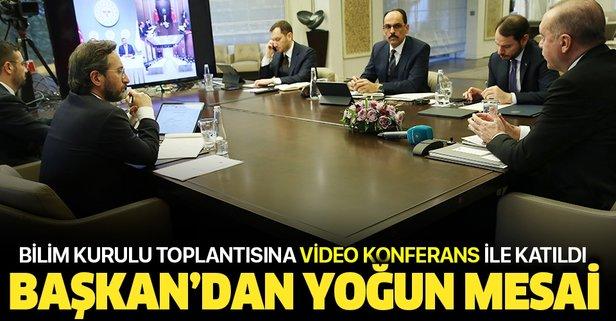 Başkan kritik toplantıya video konferansla katıldı
