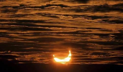 Güneş tutulmasından fotoğraflar