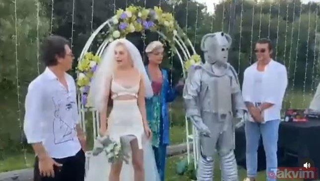 Aleyna Tilki gelinliğini giydi Cemal Can Canseven ile Ersay Üner'i şahit yaptı! 'Evet' diye bağırdı o anlar sosyal medyaya damga vurdu