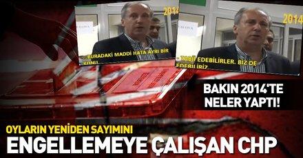 İşte oyların yeniden sayımına engel olmaya çalışan CHP!