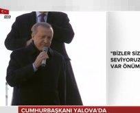 Erdoğan: Asırlık ağaçları kesenlerle bir yere gidilmez