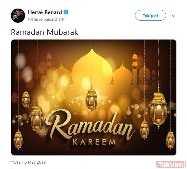 Dünya futbolundan Ramazan paylaşımları