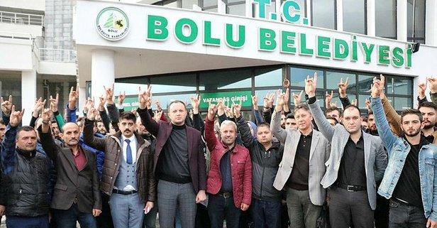 Ülkücülerden CHP'li meclis üyesine protesto