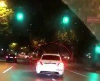 Trafik magandası Bağdat Caddesi'nde terör estirdi
